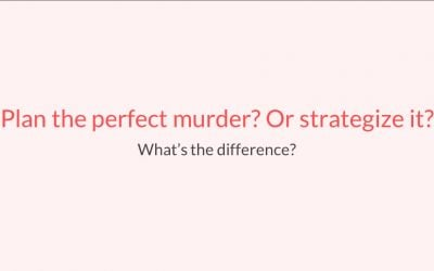 Plan the perfect murder? Or strategize it…? – Aaron Ellis